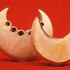 Crescents 1998 Stoneware & engobes  Slab built